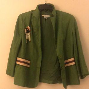 Zara size 10 green and purple blazer